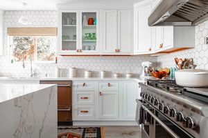 A kitchen and cookware.