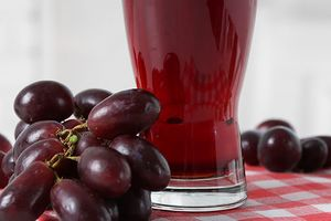 Grape juice drink.